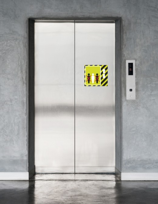 Vinilo ascensor límite personas COVID-19