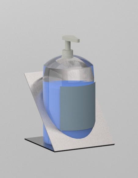 Soporte dispensador gel metal