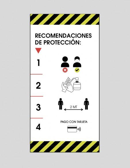 Vinilo recomendaciones COVID-19 local castellano