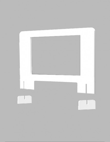 Mampara blanca para establecimientos piezas